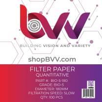 BVV Ashless Filter Papers - 180 Millimeter - Qualitative - Grade 5 - Slow - 2.5um