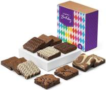 Fairytale Brownies Birthday Nut-Free Dozen Gourmet Chocolate Food Gift Basket - 3 Inch Square Full-Size Brownies - 12 Pieces - Item CB122