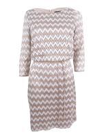 Jessica Howard Women's Petite 3/4 Sleeve Blouson Dress with Tie Belt