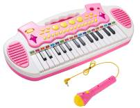 Conomus Piano Toy Keyboard for Kids, 3 4 5 Year Old Girls Birthday Gift , 31 Keys Multifunctional Musical Instruments with Microphone for Toddlers …