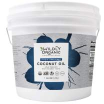 Unrefined Organic Coconut Oil - Organic Coconut Oil For Skin - Organic Coconut Oil For Hair - Coconut Oil For Cooking - Cold Pressed Coconut Oil - Extra Virgin Coconut Oil - 1 Gallon - Wildly Organic