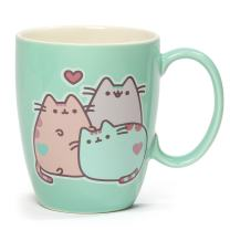 Enesco 4060150 Pusheen The Cat Pastel Stoneware Mug, 12 oz., Green