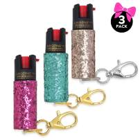 super-cute pepper spray Keychain for Women Professional Grade Maximum Strength OC Formula 1.4 Major Capsaicinoids 10-12 Ft Effective Range Accurate Stream Self-Defense Accessory Designed for Women