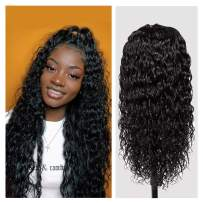 """360 Wigs Human Hair, VIPbeauty 150% Density Glueless Brazilian Water Wave Human Hair Wet and Wavy 360 Lace Frontal Wigs Pre Plucked with Baby Hair for Black Women(10"""", Nature Color)"""