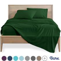 Bare Home Queen Sheet Set - 1800 Ultra-Soft Microfiber Bed Sheets - Double Brushed Breathable Bedding - Hypoallergenic – Wrinkle Resistant - Deep Pocket (Queen, Forest Green)