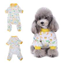 Amakunft Dog Clothes Dogs Cats Onesie Soft Dog Pajamas Cotton Puppy Rompers Pet Jumpsuits Cozy Bodysuits for Small Dogs and Cats
