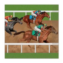 Horse Racing Luncheon Napkins (Pack of 12)