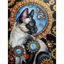 Diamond Painting Kits for Adults,5D Diamond Embroidery Pictures Arts Craft for Home Wall Decor Cat 11.8×15.7in