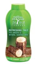 DE LEAF THANAKA Refreshing Talc Smooth and Natural Scented Skin, Talcum Powder Beauty Skincare Organic Face Body Clean Fresh Cooling Sooth Irritation, 100 g 1 Pack Count