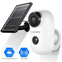 Battery Security Camera Wireless - Solar Powered IP Camera Outdoor 1080P HD Rechargeable Battery Powered WiFi Camera for Home Security, House Video Surveillance System 2 Way Audio Motion Detection