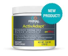Primal Labs ActivAdapt Tropical Flavored Energy Drink & Electrolyte Powder, Caffeine and Sugar Free, 30 Servings