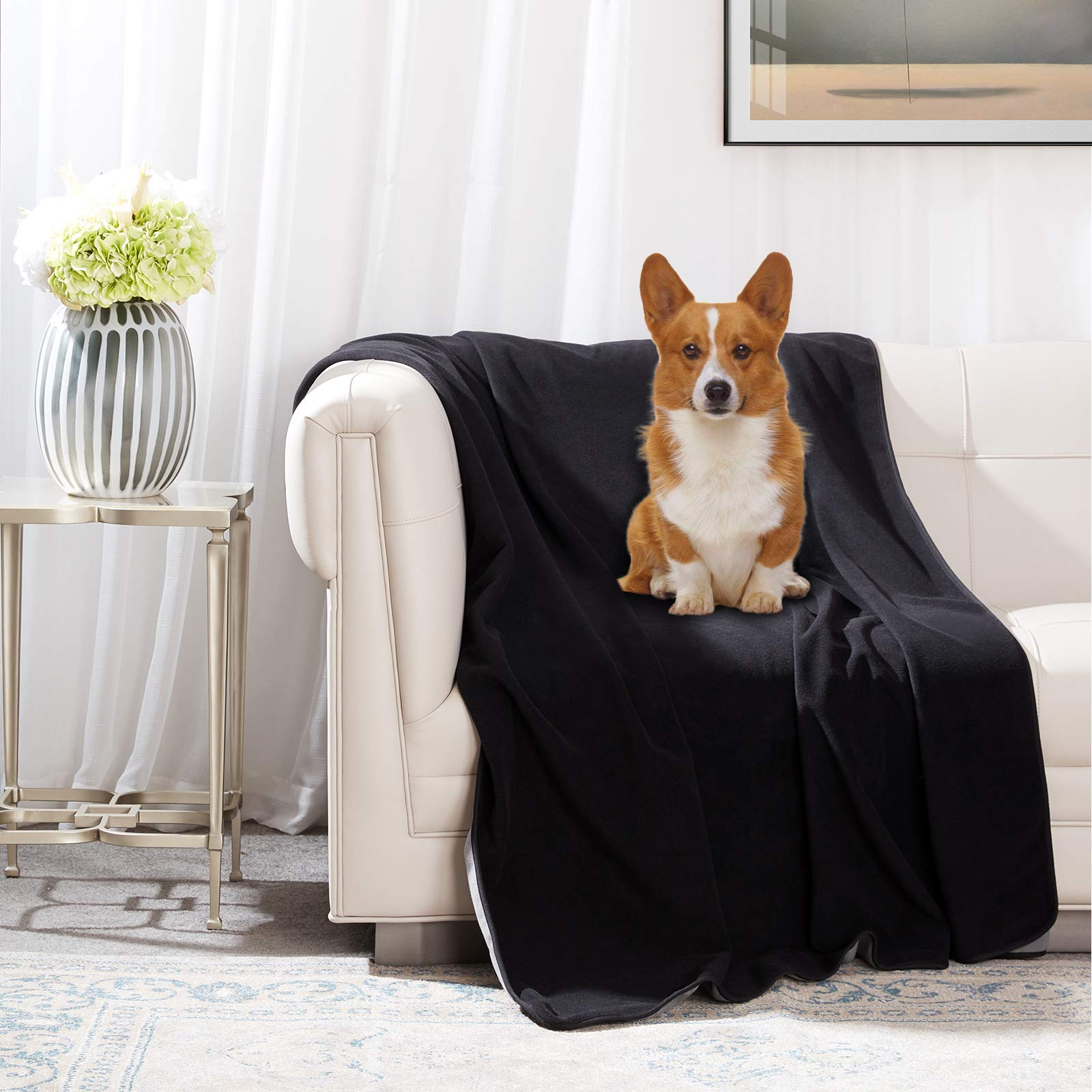 """Dog Waterproof Bed Blankets Washable - Reusable Pets Bed Blankets (60"""" 80"""") Reversible Pets Throw Blankets for Dogs/Cats/Rabbits"""