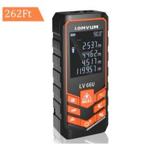 Lomvum Laser Measure 262Ft laser Measuring Device with Laser Tape Measure Bubble Levels for Real Estate, Backlit LCD, Pythagorean Mode, Measure Distance, Area, Volume - ±2mm Accuracy, Battery Included