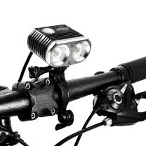 ITUO Bike Headlight, Actual 1500 Lumens Bike Front Light with Battery Pack and Remote Control, Wiz-XP2 Pro