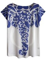 Futurino Women's Graphic Elephant Print Short Sleeve Casual Tee Shirt Tops
