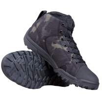 FREE SOLDIER Men's Tactical Boots Ankle Boots Lightweight Breathable Military Boots Strong Grip Camo Combat Boots for Work