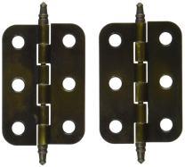Non Self-Closing Butt Antique Brass Hinge - 2 Pack