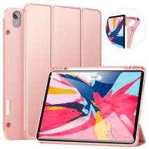 ZtotopCase for iPad Pro 12.9 Inch 2018, Full Body Protective Rugged Shockproof Case with iPad Pencil Holder, Auto Sleep/Wake, Support iPad Pencil Charging for iPad Pro 12.9 Inch 3rd Gen - Rosegold