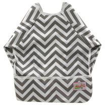 OHBABYKA Baby Waterproof Sleeve Bib Long Sleeve Bibs for Infant Toddler,6-24 Months