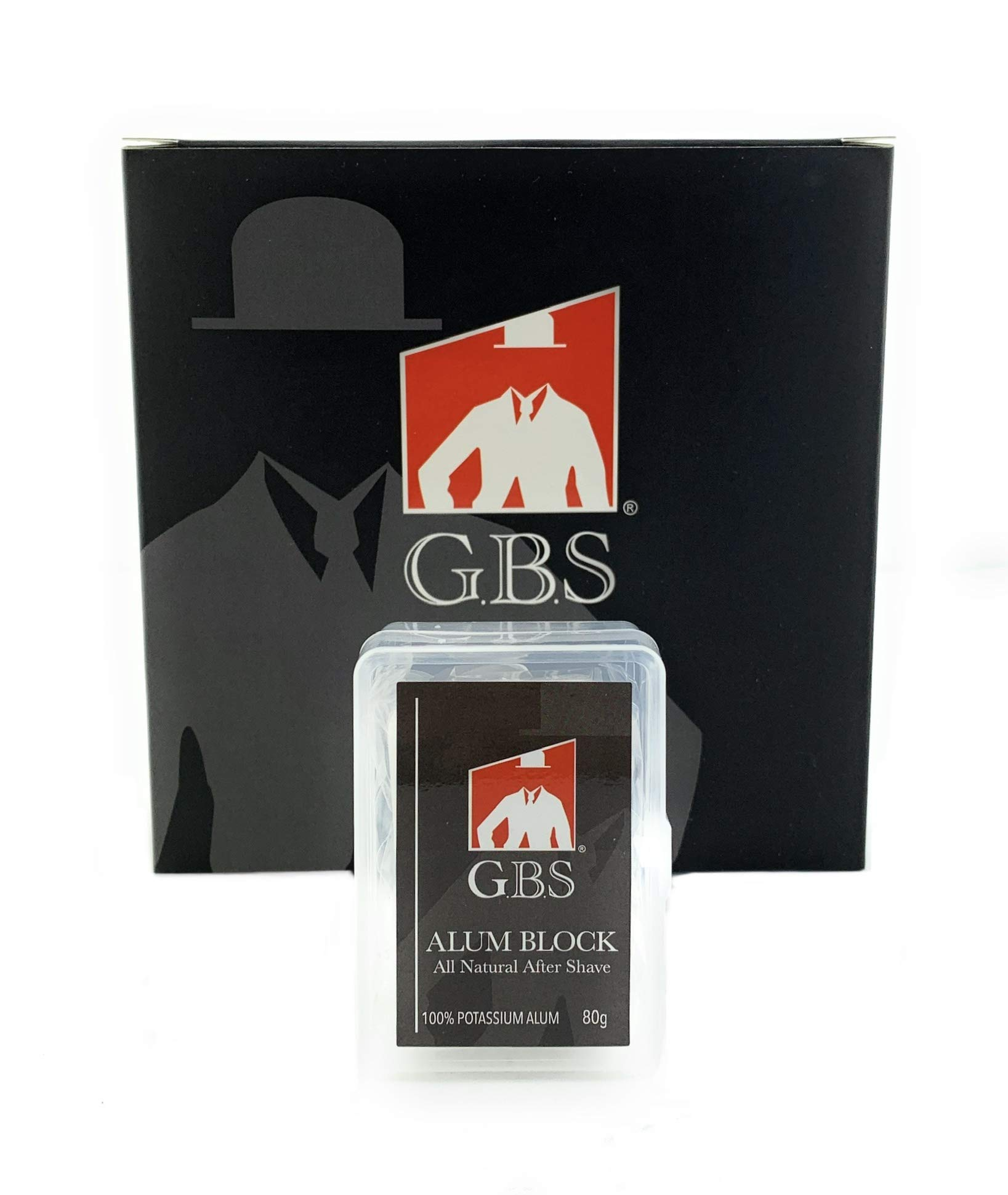 GBS Alum Block Stone Large Alum Rock in Storage Case Soothing Aftershave Astringent to Close Pores - Alum Stone Helps Stop Bleeding from Nicks and Cuts- (Alum With Case)