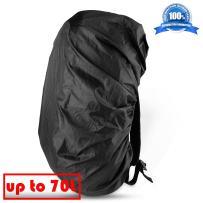 ONSON Backpack Rain Cover, Nylon Waterproof Backpack Rain Cover,Water-Resistant Backpack Rucksack Bag Rain Cover,Rucksack Water Protector Cover (Adjustable) for Hiking,Camping,Climbing,Cycling-BT01