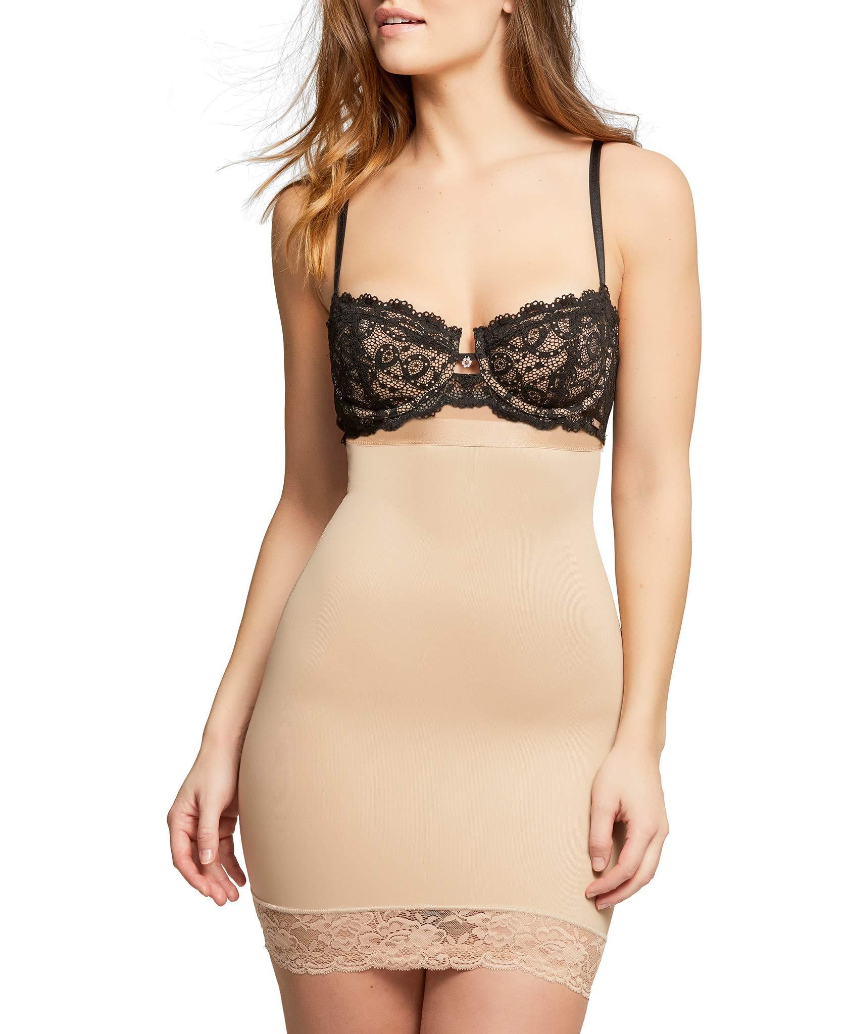 Montelle Women's Plus Size Strapless Shapewear Firm Tummy Control Waist Body Shaper Slip