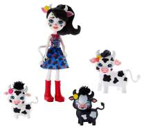 Enchantimals Family Toy Set, Cambrie Cow Doll with Ricotta & Family, Includes 6-inch Doll with 3 Cow Figures to Play Out Family Fun, Great Gift for 3-8 Year Olds  [Amazon Exclusive]