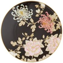 Lenox Painted Camellia Salad Plate, 0.70 LB, Black