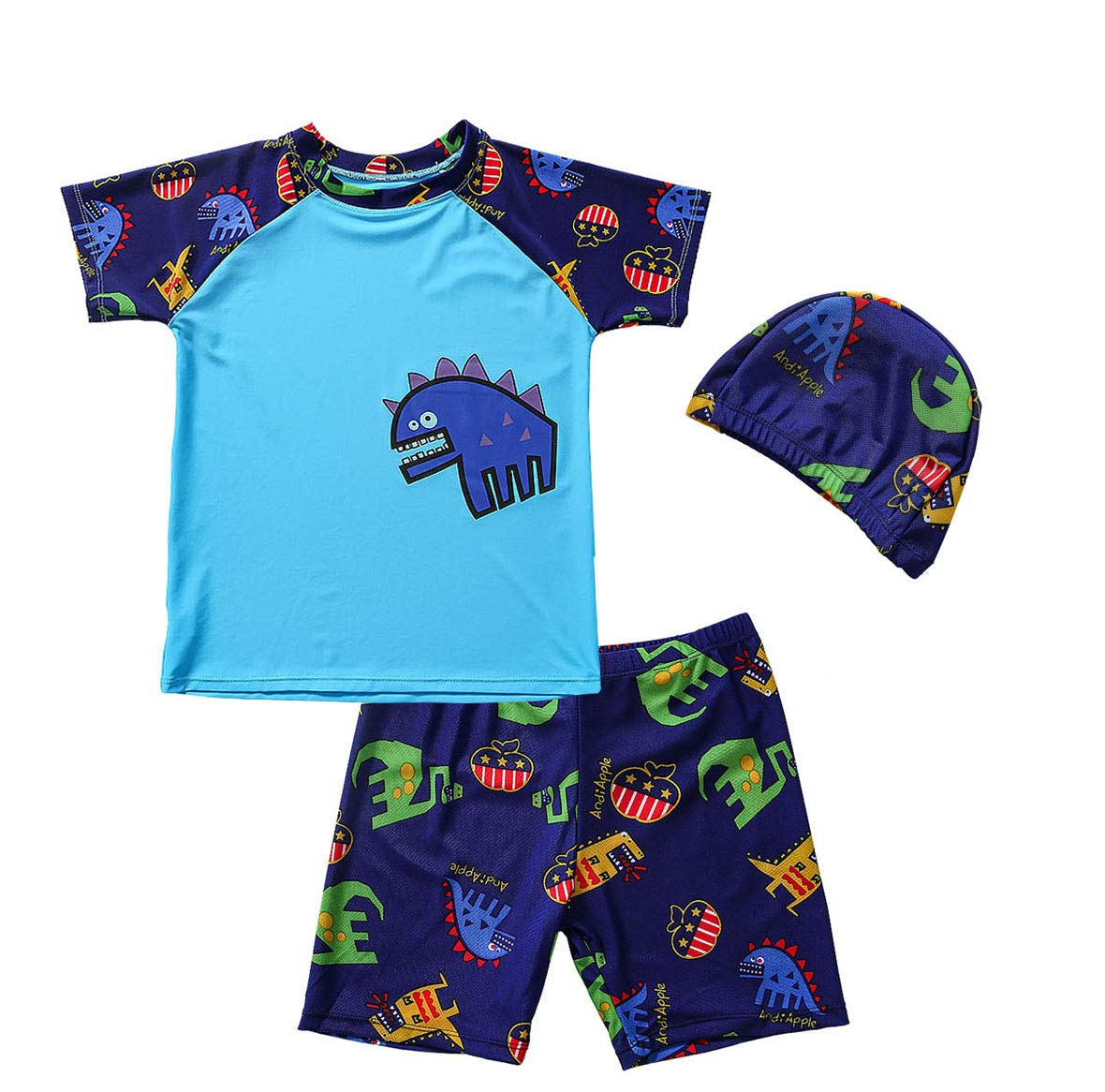 Baby Toddlers Boys Two Pieces Swimwear Set Kids Swimsuit Beach Bathing Suit  Dinosaur Shark Long Sleeve Rash Guard