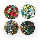 """Buttonsmith Best of Tiffany Magnet Set - Set of 4 1.25"""" Magnets - Made in the USA"""
