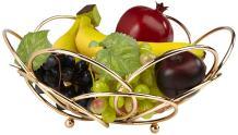Mind Reader Fruit Basket Bowl for Countertop, Tabletop,Modern Design, Gold