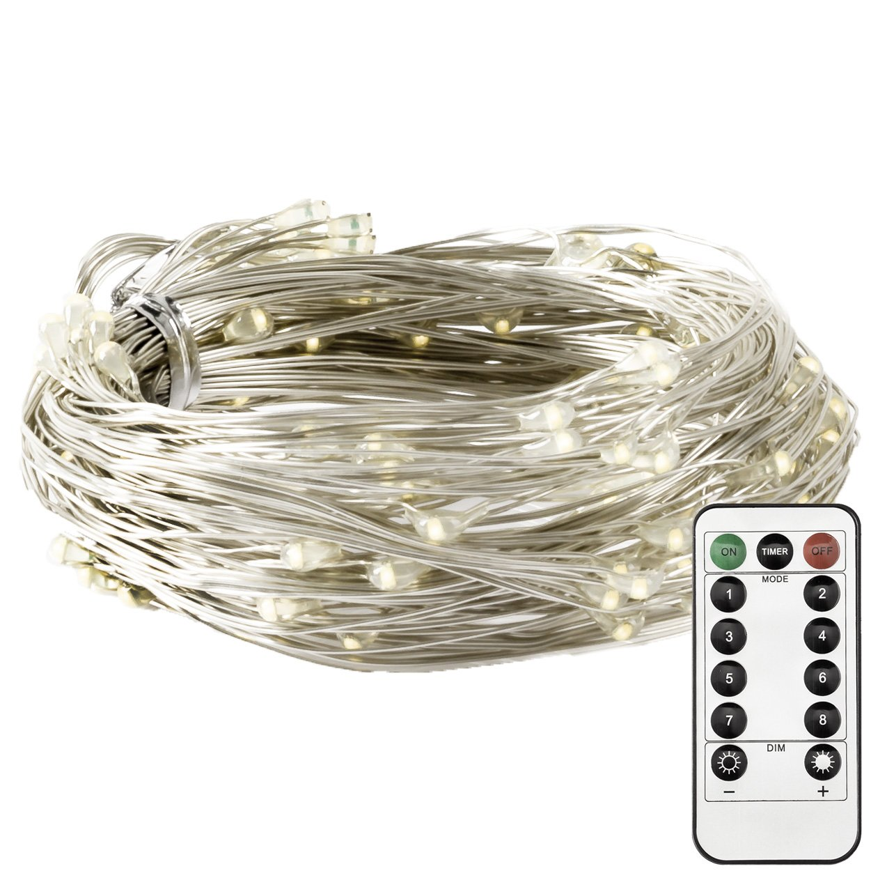 Otimo 2 Meters 120LED Starry Fairy String Lights with 8 Modes, Multi-Colored Fairy Light, Battery Powered