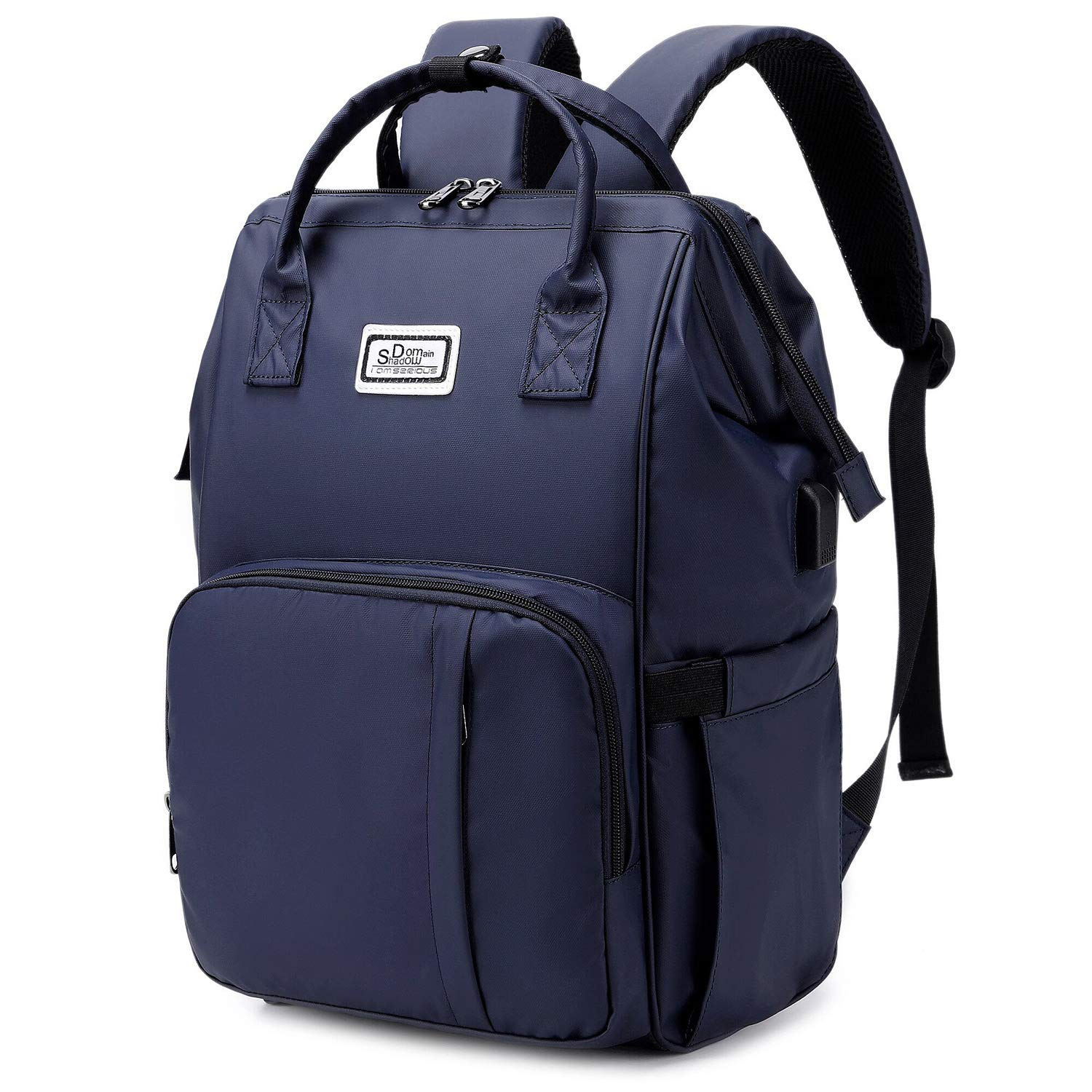 15.6 Inch Laptop Backpack Work Travel Bag USB Anti-Theft Pocket, Professional Tote Purse Stylish Water Resistant College Daypack