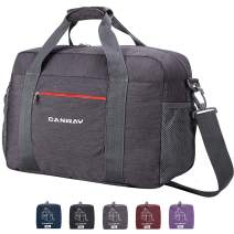 Travel Duffel Bag, 55L Foldable Duffel Bags for Luggage Sport Gym Duffel Weekender Overnight Bag for Men Women Water-proof (Grey)