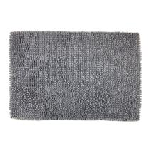 Wolala Home Super Soft Strong Absorbent Non-Slip Chenille Area Rugs Microfiber Shag Shower Rug Bath Mat Grey Fast Drying Bathroom Carpet(16''x24'')