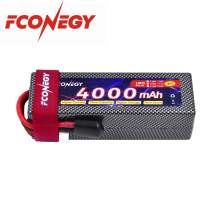 FCONEGY 4S 14.8V 4000mAh Lipo Battery Pack with Deans Plug for RC Car RC Truck RC Hobby