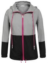 UNibelle Women's Raincoat Waterproof Hooded Rain Jacket Lightweight Active Outdoor Windbreaker Rain Coat
