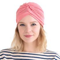 Fashion Fortune Teller Turban - Twist Pleated Head Wrap Turban Costume Chemo Hat