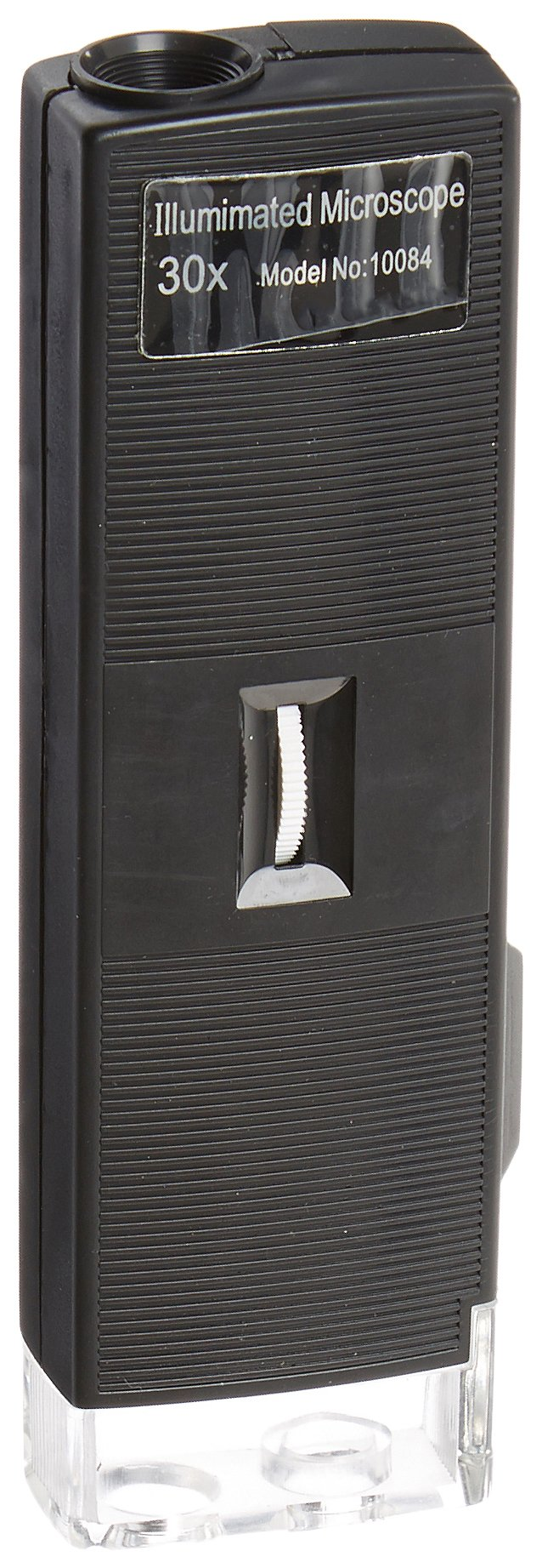 United Scientific MCR30X Pocket Illuminated Microscope, 30x Magnification, Battery-Powered