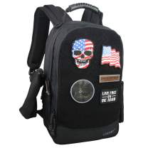 Large Tactical Backpack with Hydration Bladder Personalized Rucksack with 5 Velcro Patches Carry on Travel Backpacks Fits 17 inch Laptop (Black)