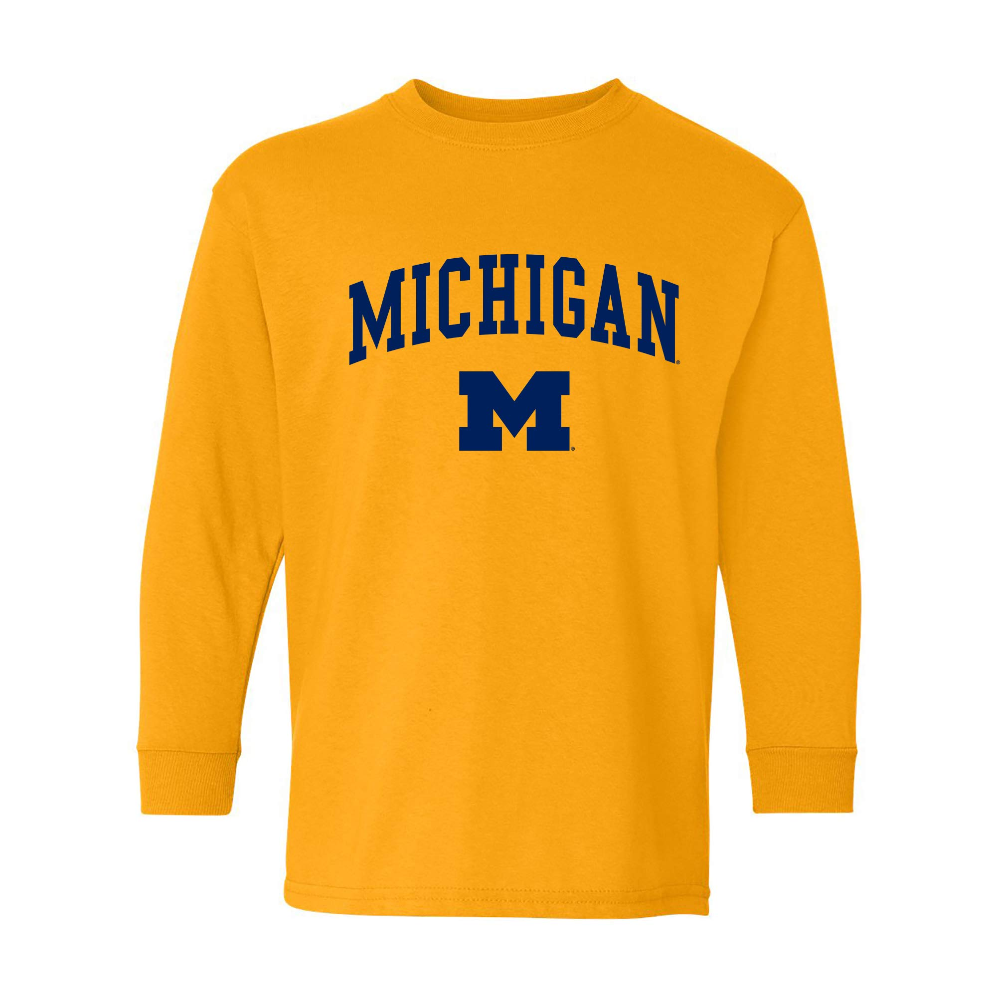 NCAA Arch Logo, Team Color Youth Long Sleeve T Shirt, College, University