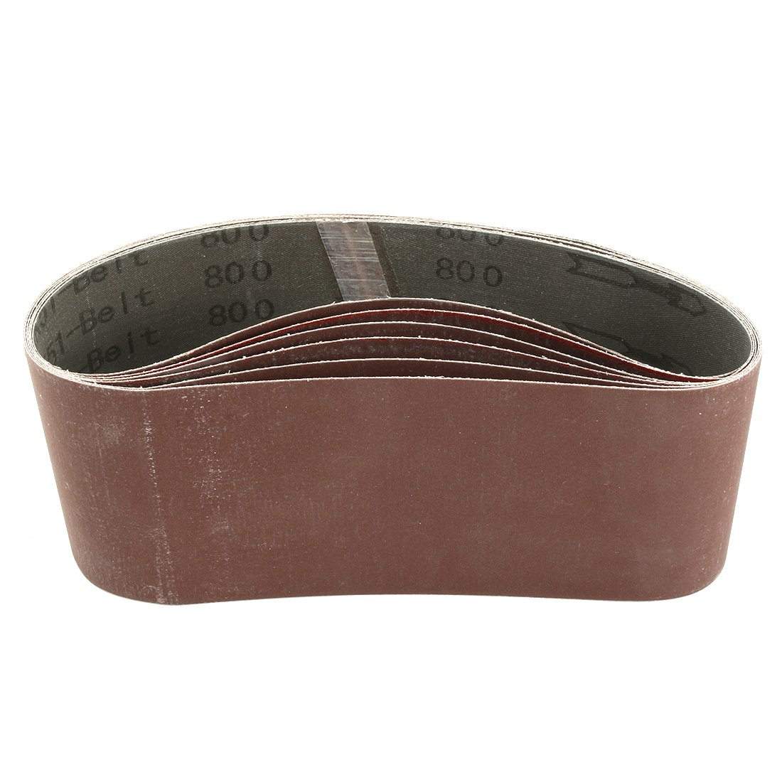 uxcell 4-Inch x 24-Inch Aluminum Oxide Sanding Belt 800 Grits Sandpaper Flush Joint for Belt Sander 6pcs