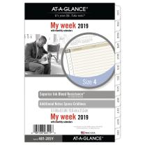 """AT-A-GLANCE 2019 Weekly & Monthly Planner Refill, Day Runner, 5-1/2"""" x 8-1/2"""", Desk Size 4, Loose Leaf (481-285Y)"""