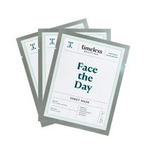 NEW! Face The Day Sheet Mask for parched and puffy skin - A soothing face sheet mask to rehydrate and calm your skin -Free from Harmful Ingredients, 100% Pure Cotton, and Made in the USA (Pack of 3)