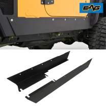 EAG Armor Rocker Panel Guard Rock Sliders 1 Pair Fit for 97-06 Jeep Wrangler TJ