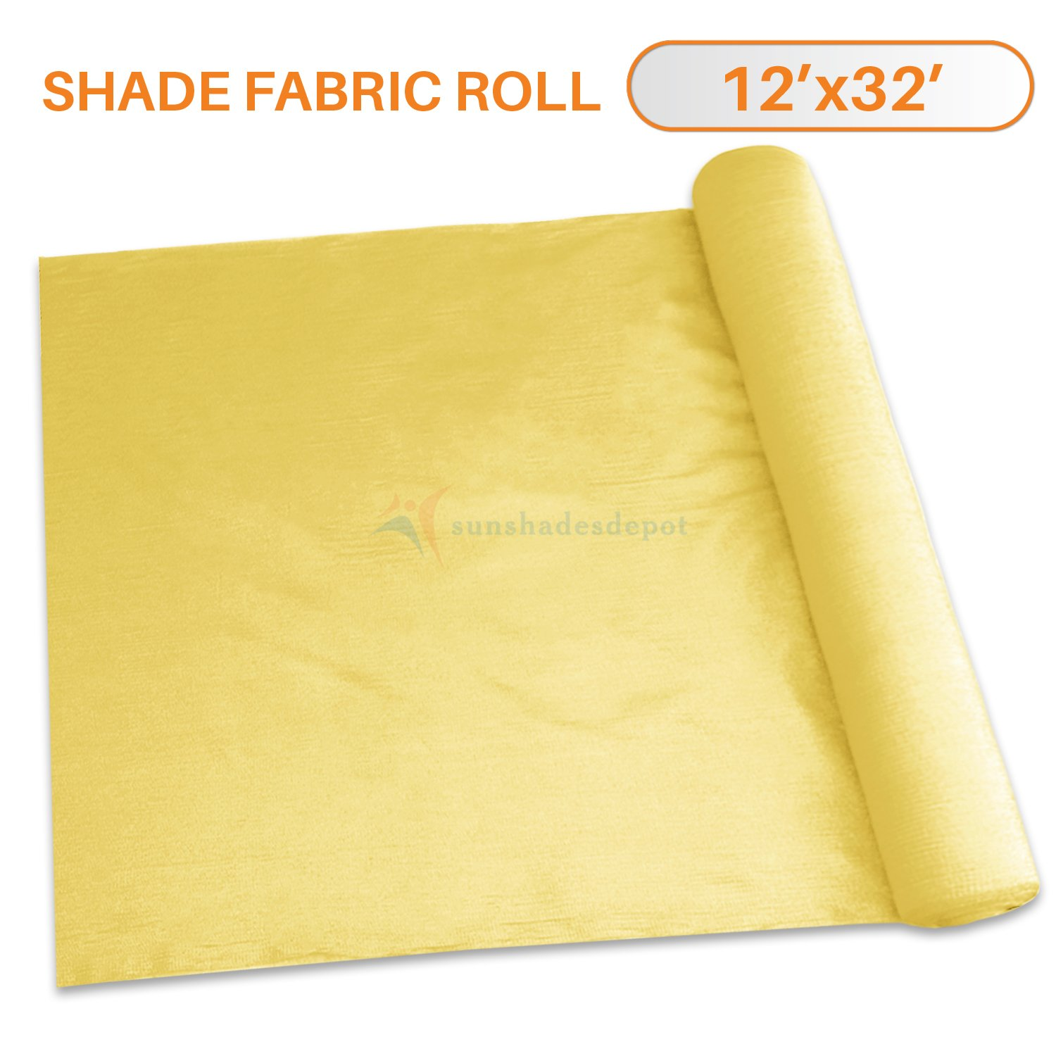 TANG Sunshades Depot 12'x32' Shade Cloth 180 GSM HDPE Canary Yellow Fabric Roll Up to 95% Blockage UV Resistant Mesh Net for Outdoor Backyard Garden Plant Barn Greenhouse
