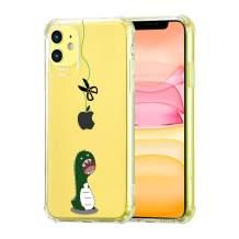 "zoohi iPhone 11 Clear Case with Dinosaur Design, Corner Bumper Shock-Absorption Dinosaur Back Design, Soft TPU Anti-Scratch Clear Case Cover for iPhone 11 6.1"""