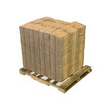 "Pratt PRA0008PLT 100% Recycled Corrugated Cardboard Box, 6"" Length x 6"" Width x 4"" Height, Kraft (Pack of 2000)"