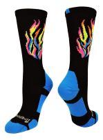 MadSportsStuff Flame Athletic Crew Socks (Multiple Colors)