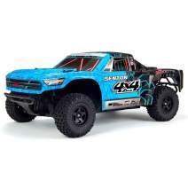 ARRMA 1/10 SENTON MEGA 4X4 RC Stadium Truck 4WD RTR with 2.4GHz Spektrum Radio, 7C 2400mAh NiMH Battery and Charger, Blue/Black (ARA102715T2)